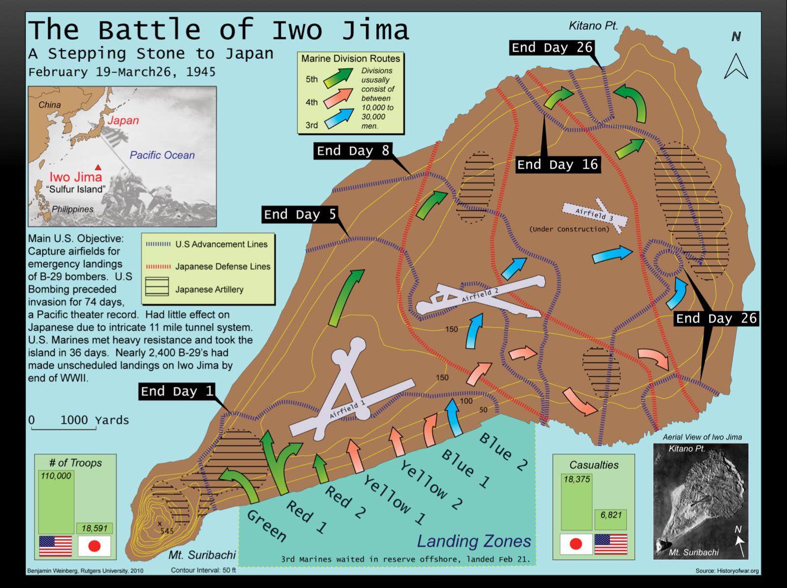 iwo jima map